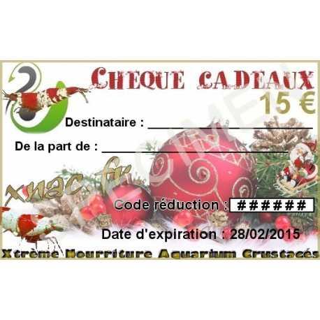 Chèques cadeaux 15€ ou 25€