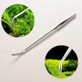 Pince courbe à planter inox 26 cm
